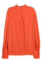 Blouse with a stand-up collar - Orange - Ladies | H&M CN 3