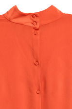 Blouse with a stand-up collar - Orange - Ladies | H&M CN 4