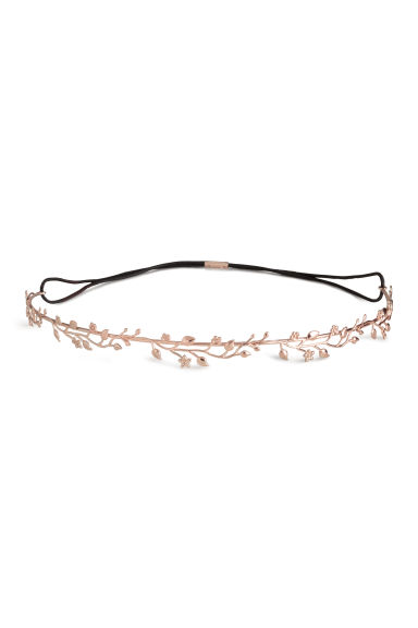 Metal hairband - Rose gold-coloured - Ladies | H&M