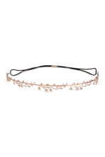 Metal hairband - Rose gold-coloured - Ladies | H&M CN 1