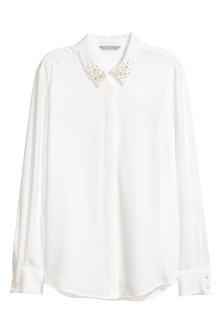 Overhemdblouse met applicaties