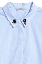 Shirt with appliqués - Light blue/White striped - Ladies | H&M CN 3