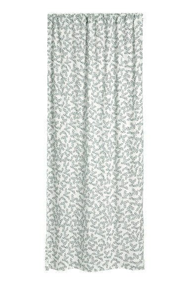 2-pack patterned curtains - White - Home All | H&M CN