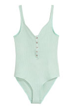 Ribbed body - Green - Ladies | H&M 2