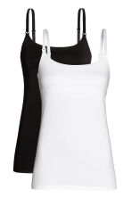MAMA 2-pack nursing tops - White/Black - Ladies | H&M 2