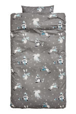 Christmas duvet cover set - Grey/Christmas - Home All | H&M CN 1