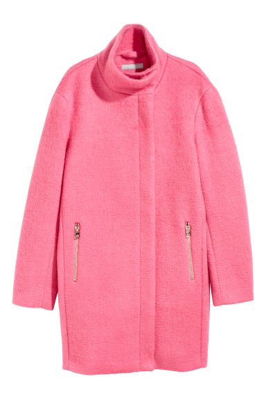 Wool-blend coat - Pink - Ladies | H&M CN