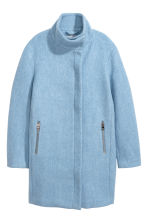 Wool-blend coat - Light blue - Ladies | H&M CN 2