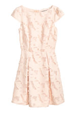 Jacquard-patterned dress - Powder pink - Ladies | H&M CN 2