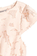 Jacquard-patterned dress - Powder pink - Ladies | H&M CN 3