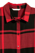 Checked cotton shirt - Red/Black checked - Ladies | H&M 3
