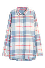 Checked cotton shirt - Light blue/White checked - Ladies | H&M 2