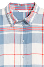 Checked cotton shirt - Light blue/White checked - Ladies | H&M 3