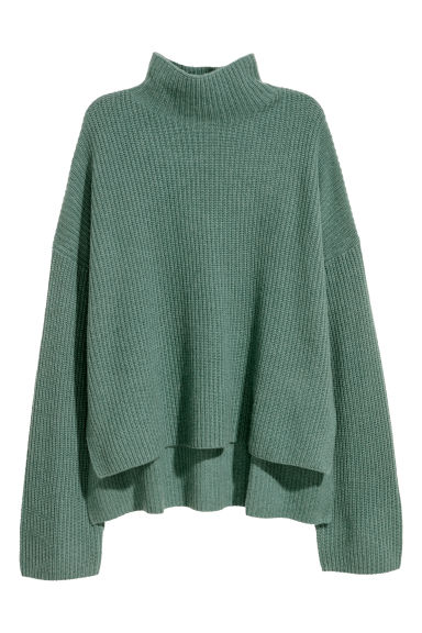 Cashmere jumper - Dusky green - Ladies | H&M