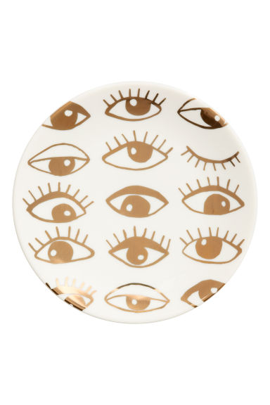 Patterned porcelain dish - Gold-coloured - Home All | H&M CN 1