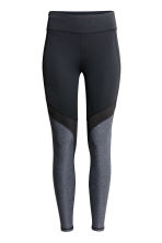 Sports tights - Black/Grey - Ladies | H&M 2