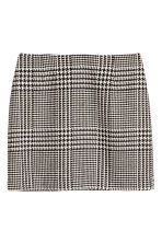 Jacquard-weave skirt - Natural white/Dogtooth - Ladies | H&M 1
