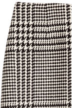 Jacquard-weave skirt - Natural white/Dogtooth - Ladies | H&M 2