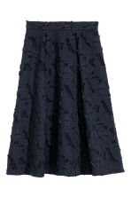 Jacquard-patterned skirt - Dark blue -  | H&M CN 2