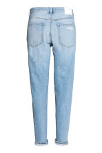 Boyfriend Low Ripped Jeans - Light denim blue/Trashed - Ladies | H&M 3