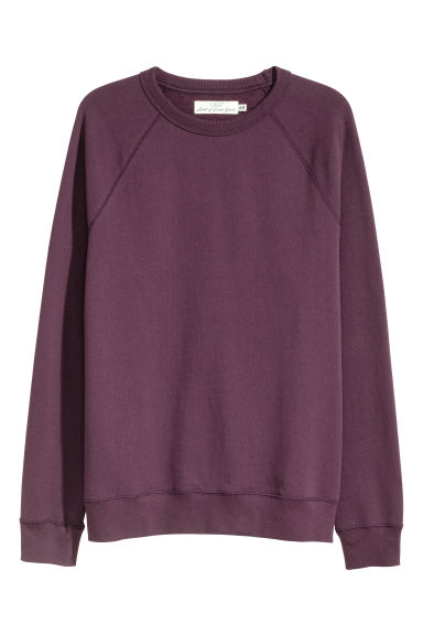 Sweatshirt with raglan sleeves - Purple - Men | H&M CN