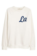 Sweatshirt with raglan sleeves - Natural white - Men | H&M CN 2