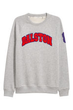 Sweatshirt with raglan sleeves - Grey marl - Men | H&M 1