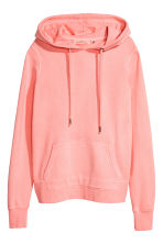 Cotton hooded top - Neon pink - Ladies | H&M 2