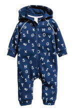 Hooded all-in-one suit - Dark blue -  | H&M 1