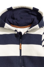 Hooded all-in-one suit - Natural white/Blue striped - Kids | H&M CN 2