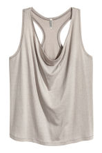 Draped vest top - Grey beige - Ladies | H&M CA 2