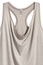 Draped vest top - Grey beige - Ladies | H&M CA 3