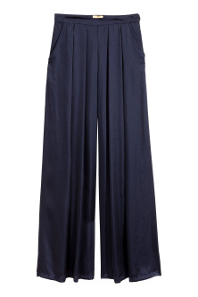 Wide satin trousers