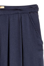 Wide satin trousers - Dark blue - Ladies | H&M CN 3