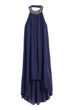 Chiffon halterneck dress - Dark blue - Ladies | H&M 2