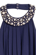 Chiffon halterneck dress - Dark blue - Ladies | H&M 3