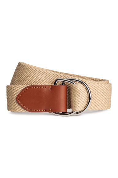 Fabric belt - Beige - Men | H&M 1