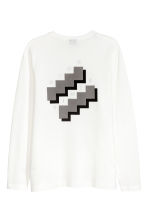 Cotton jersey top - White - Men | H&M 3