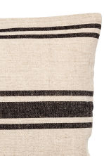 Linen-blend cushion cover - Natural white/Striped - Home All | H&M CN 2