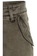 Lyocell-blend cargo trousers - Dark Khaki - Ladies | H&M 5