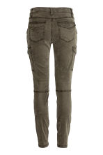 Lyocell-blend cargo trousers - Dark Khaki - Ladies | H&M 3