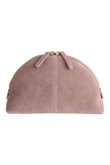 Suede make-up bag