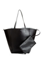 Reversible shopper with clutch - Black/Silver - Ladies | H&M 1