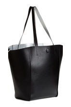 Reversible shopper with clutch - Black/Silver - Ladies | H&M 3