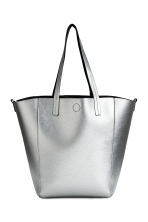 Reversible shopper with clutch - Black/Silver - Ladies | H&M 2