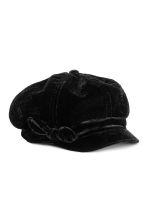 Velour Cap - Black - Kids | H&M CA 1