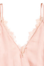 Satin top - Powder pink - Ladies | H&M CN 3