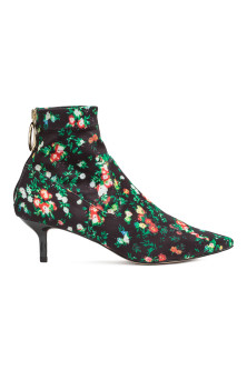 Patterned ankle boots