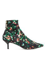 Patterned ankle boots - Black/Floral - Ladies | H&M 2