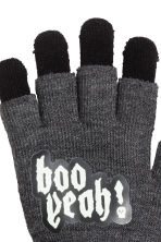 Gloves/fingerless gloves - Dark grey/Skull -  | H&M CN 2